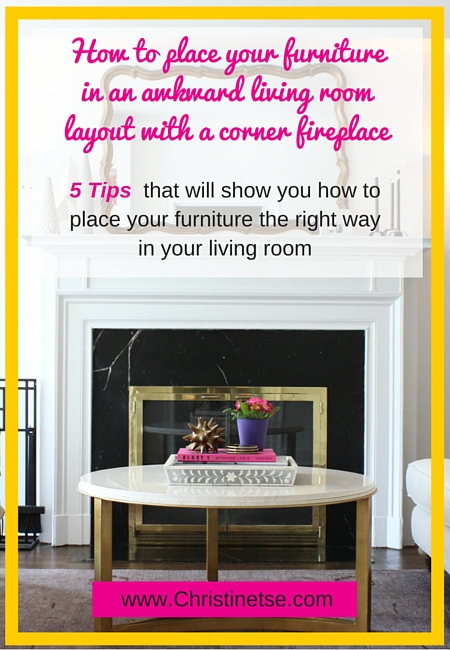 Q and A with Christine Awkward Living Room Layout with a corner